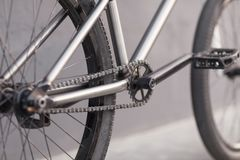 Close-up photo of bicycle chain Stock Image
