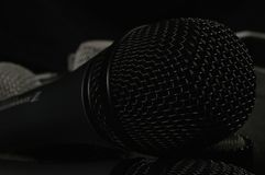 Close Up Photo of Black Microphone Stock Photo