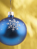 Close-up photo of blue christmas ball Stock Image