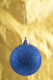 Close-up photo of blue christmas ball Stock Photography
