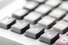 Close-up photo of a calculator Stock Photo