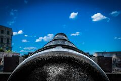 Close-up of Photo of A Cannon Stock Photo