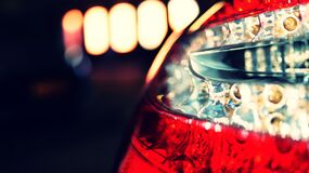 Close Up Photo of Car Tail Light Royalty Free Stock Photography