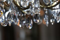 Close-up photo of chandelier during Jason Wu show. NEW YORK, NY - FEBRUARY 10: Close-up photo of chandelier during Jason Wu show during New York Fashion Week on stock image