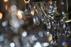 Close-up photo of chandelier during Jason Wu show. NEW YORK, NY - FEBRUARY 10: Close-up photo of chandelier during Jason Wu show during New York Fashion Week on stock photo