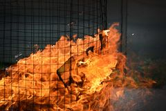 Close up chinese fire ritual stock photography