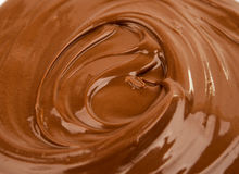 Close up photo of chocolate flow Royalty Free Stock Photo
