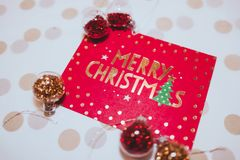 Close-up Photo of Christmas Card Stock Photography