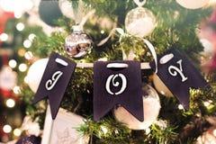 Close-up Photo of Christmas Decoration Hanging on Tree stock photos
