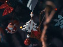 Close-Up Photo of Christmas Tree Ornaments royalty free stock images