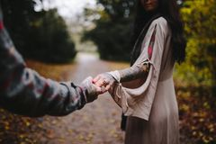 Close-up Photo Of Couple Holding Hands Stock Photos