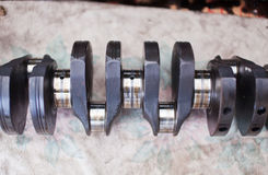 Close-up photo of the crankshaft car engine Royalty Free Stock Photography
