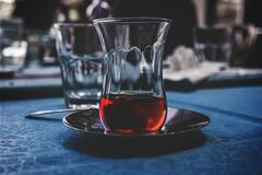 Close Up Photo of Drinking Glass With Beverage Royalty Free Stock Image