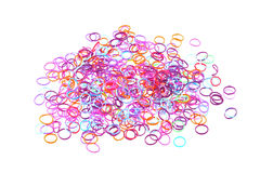 Close up photo of elastic bands used to make jewellery Royalty Free Stock Photography