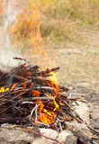Close up photo of fire. Royalty Free Stock Photo