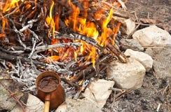Close up photo of fire. Stock Photos
