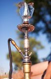 Close-up photo of foil for hookah on nature background Stock Images