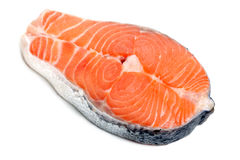 Close up photo of fresh salmon Stock Image