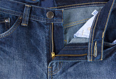 Close up photo  front of blue jeans Stock Photos
