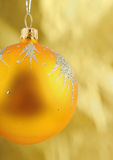 Close-up photo of golden  christmass ball Stock Photo