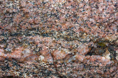 Close-up photo of granit stone Stock Image