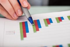 Close-up Of Financial Graph Royalty Free Stock Image