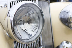 Close up photo of headlight retro car Stock Photo