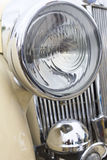 Close up photo of headlight retro car. Selective focus on headlight Royalty Free Stock Images