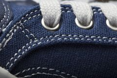 Close-up photo of jeans Sneakers texture background.  Royalty Free Stock Photo