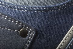 Close-up photo of jeans texture background.  Royalty Free Stock Image