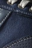 Close-up photo of jeans texture background.  Stock Photography