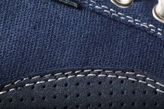 Close-up photo of jeans texture background Stock Images