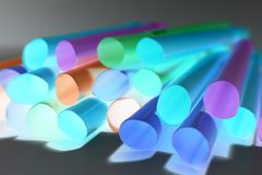 Close up photo of king size  straws royalty free stock images