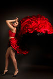 Lady in gypsy costume dancing flamenco Royalty Free Stock Image