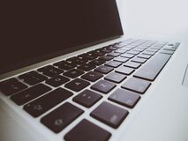 Close Up Photo of Laptop Keyboard Royalty Free Stock Photography