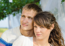 Close up photo of a loving young couple Royalty Free Stock Photo