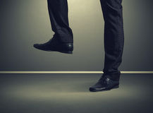 Close up photo of male legs Royalty Free Stock Images