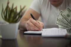 Making a payment stock images
