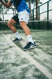 Close-up Photo of Man Standing on Tennis Court stock photography