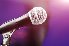 Close up photo of microphone at the boom royalty free stock photos