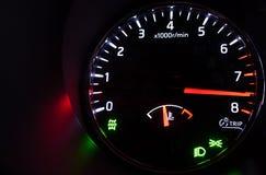 Close-up photo of modern car tachometer Stock Photos
