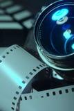Close-up photo movie camera lens Stock Photo
