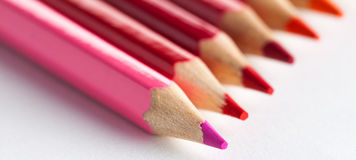 Close up photo of multicolored pencils Royalty Free Stock Photos