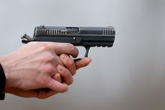 Free Close-up Photo Of A Pistol Shooting Royalty Free Stock Images - 107809229