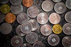 Free Close-up Photo Of Romanian Money, Coins, 10 Bani, 5 Bani And 1 Ban Royalty Free Stock Images - 160547389
