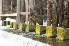Old dam, close-up Stock Photography