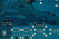 Close up photo of part of a motherboard Royalty Free Stock Image