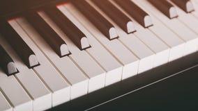 Close up photo of piano keys Royalty Free Stock Photography