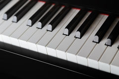 Close up photo of piano keys Stock Photography