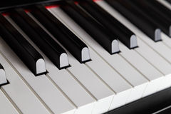Close up photo of piano keys Stock Photos
